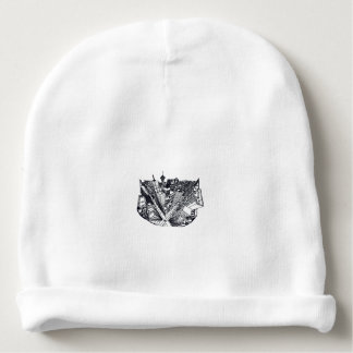 town center in 3 POINT perspective Baby Beanie