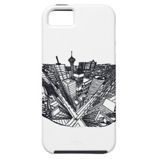 town center in 3 POINT perspective Case For The iPhone 5