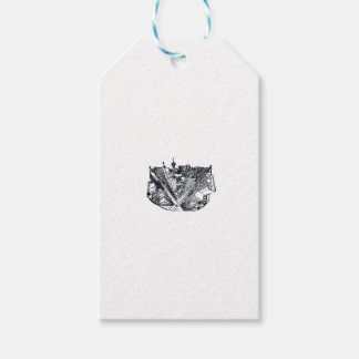 town center in 3 POINT perspective Gift Tags