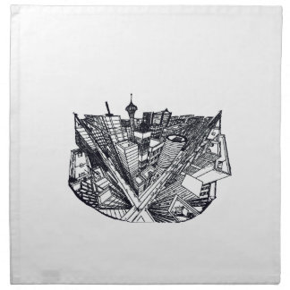 town center in 3 POINT perspective Napkin
