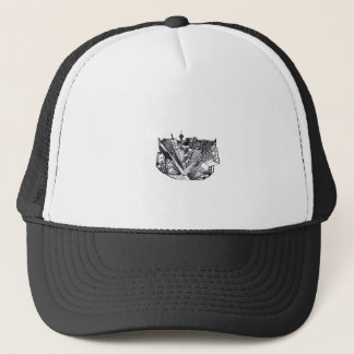 town center in 3 POINT perspective Trucker Hat