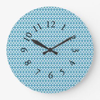 Town-Country-Blue-Chic-Wall-Clocks Large Clock