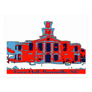 Town Hall Burnsville NC Postcard