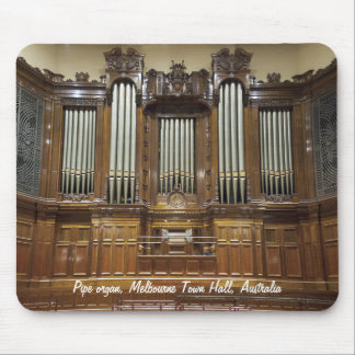 Town Hall, Melbourne Australia pipe organ mousepad