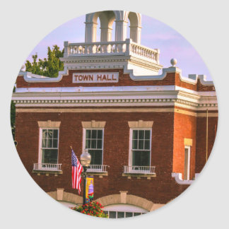 Town Hall Round Sticker
