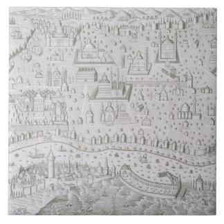 Town map of Constantinople, Turkey, c.1650 (engrav Tile