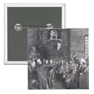 Town Meeting from M'Fingal', by John Trumball 2 Inch Square Button