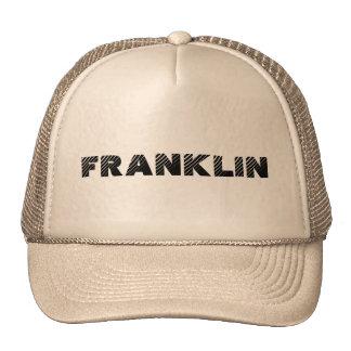 town of franklin trucker hat