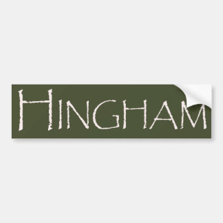 Town of Hingham MA Bumper Sticker