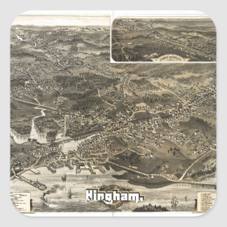 Town of Hingham, Massachusetts (1885) Square Sticker