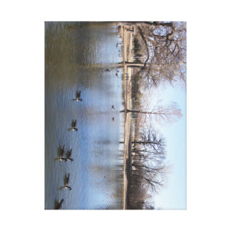 Town Park Stretched Canvas Print