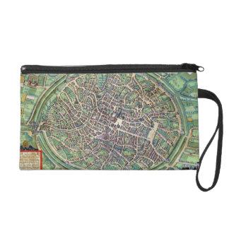 Town Plan of Bruges, from 'Civitates Orbis Terraru Wristlet Clutches