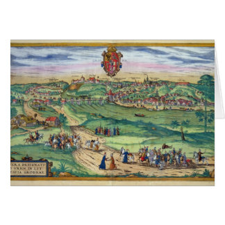 Town Plan of Grodno, from 'Civitates Orbis Terraru Card