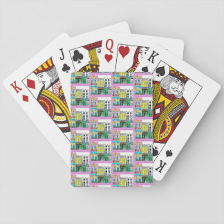 Town playing cards
