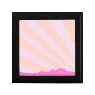 Town Rays Silhouette Grunge Gift Box