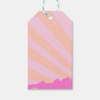 Town Rays Silhouette Grunge Gift Tags