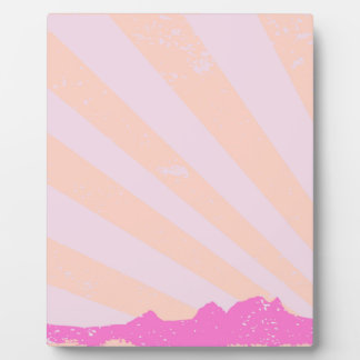 Town Rays Silhouette Grunge Plaque