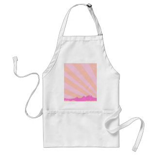 Town Rays Silhouette Grunge Standard Apron
