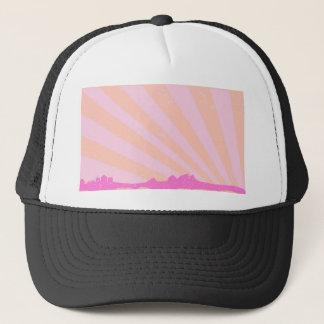 Town Rays Silhouette Grunge Trucker Hat