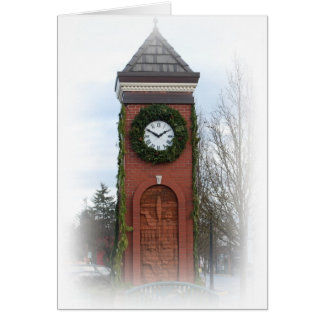 Town Square Clock Holiday Card