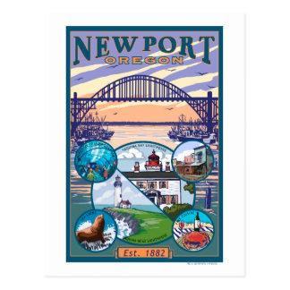 Town Views - Newport, Oregon Postcard