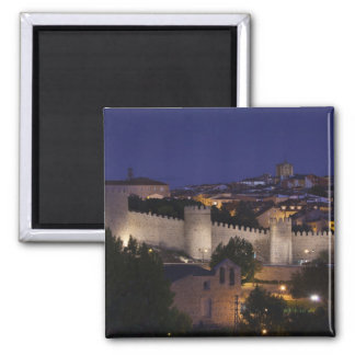 Town walls from Los Cuarto Postes, dusk Magnet