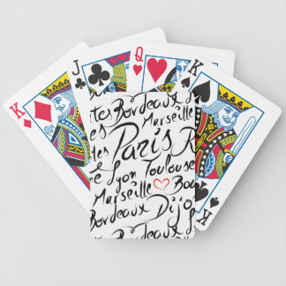Towns of France Pattern Bicycle Playing Cards