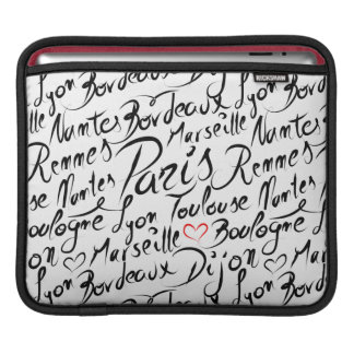 Towns of France Pattern iPad Sleeve