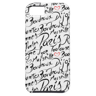 Towns of France Pattern iPhone 5 Case