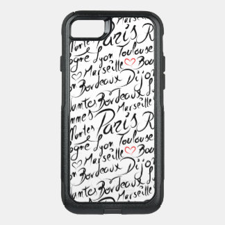 Towns of France Pattern OtterBox Commuter iPhone 8/7 Case