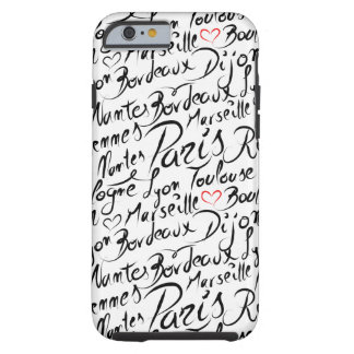 Towns of France Pattern Tough iPhone 6 Case