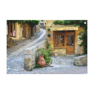 Townscape in Dordogne, France canvas print