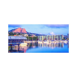 Townsville Marina, City Skyline Art, City Sunset, Canvas Print