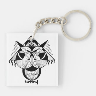 Towny Tribal Graphic (double-sided) Keychain