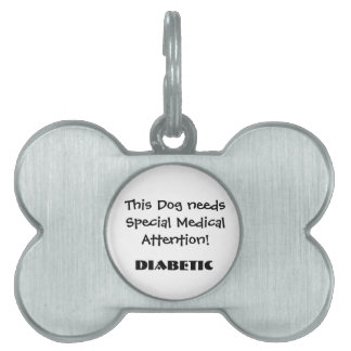 TOWT - Medical Attention Dog Tag Diabetic Pet Tags