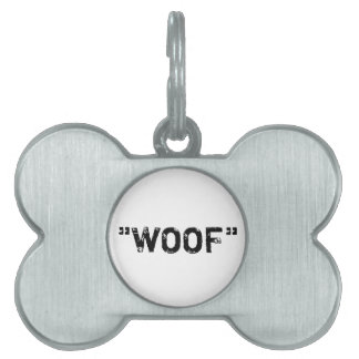 "TOWT - ""WOOF"" - Dog Tags Pet Tag"