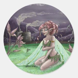 Toxic Fairy Round Sticker