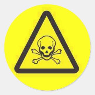 toxic_hazard classic round sticker