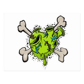 Toxic Heart with Bones 001 (White Back).jpg Postcard