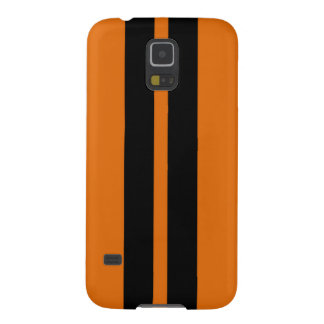 TOXIC ORANGE BLACK RACING STRIPES SPORTS CAR GALAXY S5 CASE