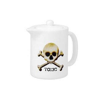 Toxic Poison Skull Crossbones Halloween Prop