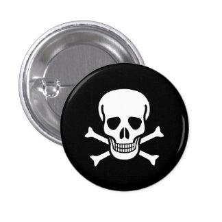 Toxic Skull 1 Inch Round Button