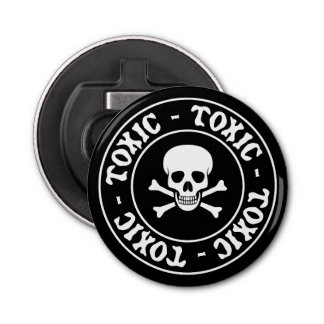 Toxic Skull and Crossbones Bottle Opener