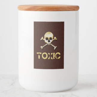 Toxic Skull And Crossbones Design Food Label