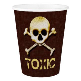 Toxic Skull And Crossbones Halloween Design Paper Cup