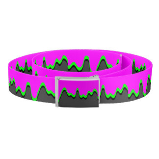 Toxic Sludge Drip Canvas Belt