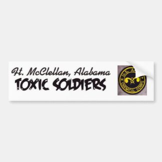 toxic soldiers bumper sticker chemical corp versio