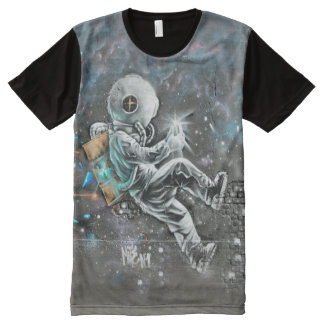 Toxic Urban Spaceman Cool Graffiti Wall Art All-Over-Print T-Shirt