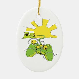toxic video game pad controller ceramic ornament