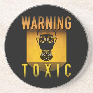 Toxic Warning Gas Mask Retro Atomic Age Grunge : Coasters